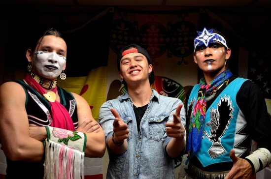 Frank Waln and the Sampson Brothers, photograph courtesy the artists