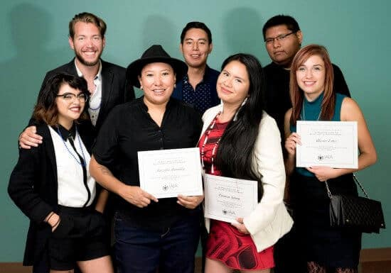 Group photograph of several scholarship recipients