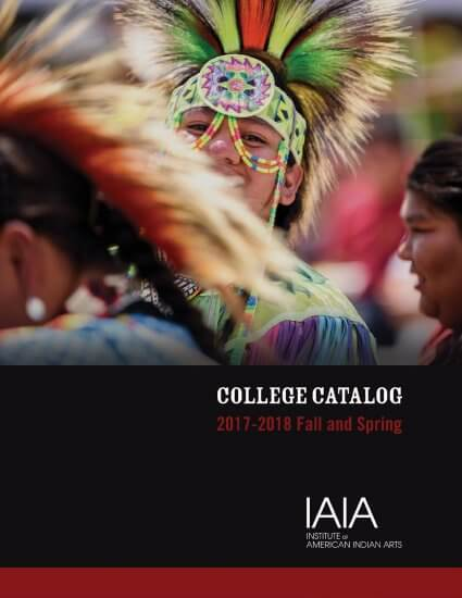 2017-2018 IAIA College Catalog (cover)