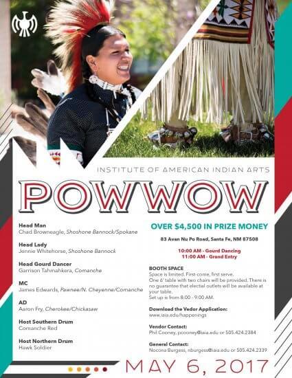 IAIA 2017 Spring Powwow Flier