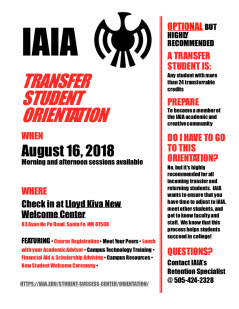 IAIA Transfer Orientation Flier