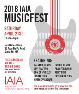 2018 IAIA MusicFest Flier