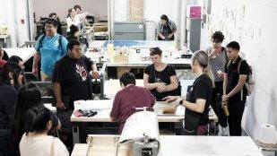 IAIA Students in the Printmaking Studio