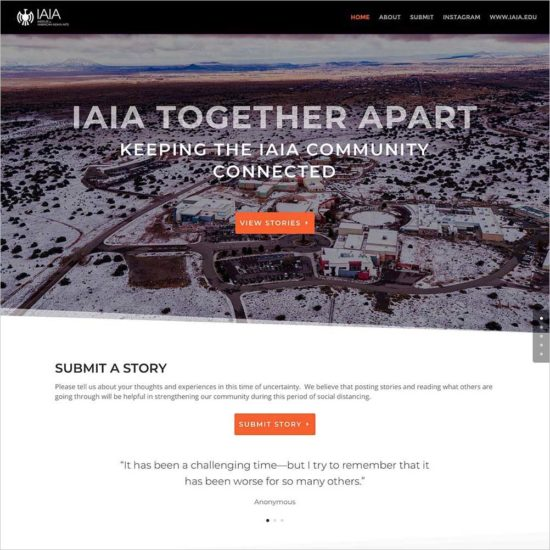 #IAIATogtherApart website