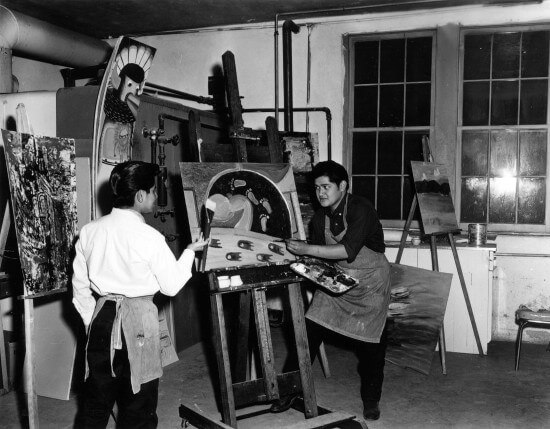 IAIA Painting Students, c. 1966