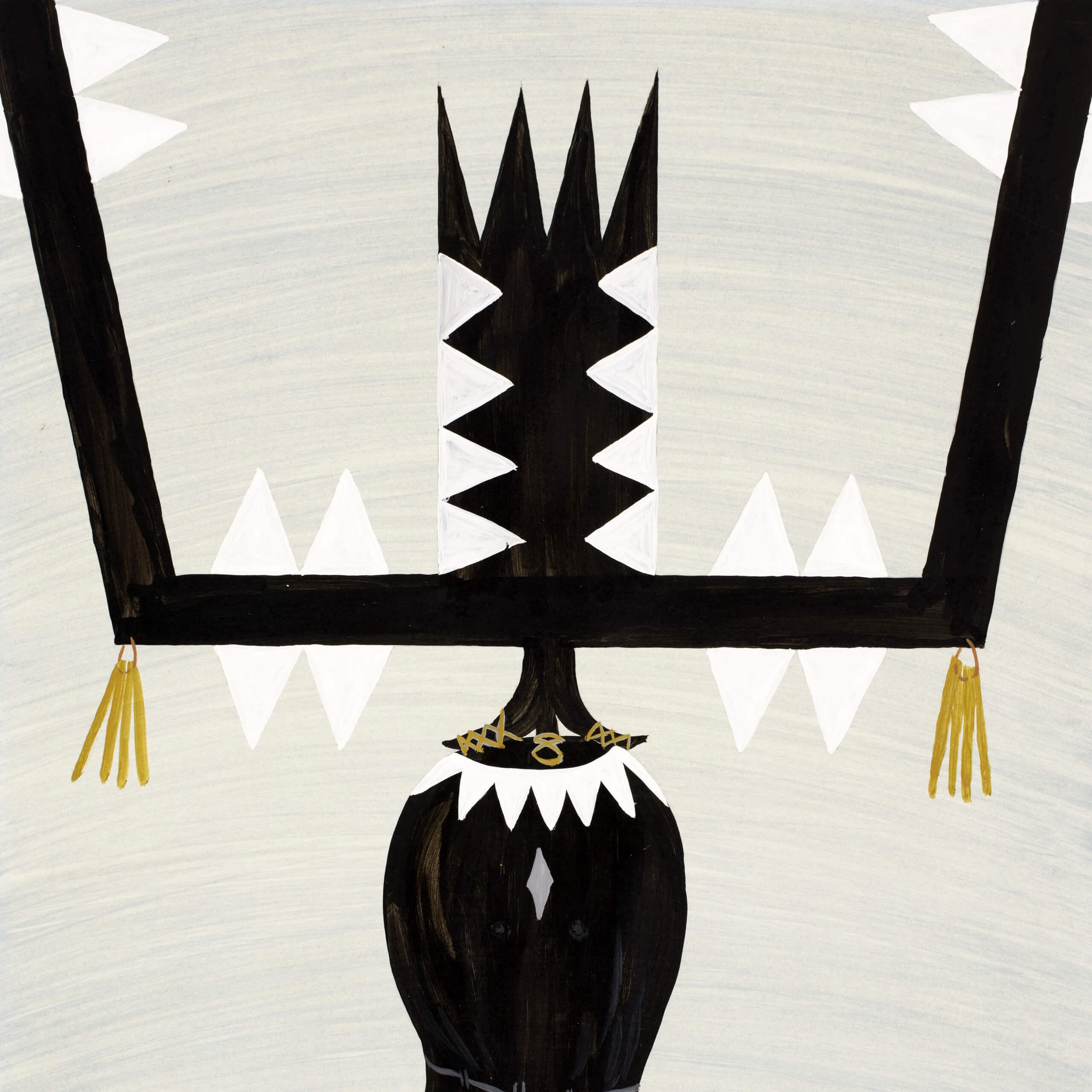 "Fred Treas, Crown Dancer, Tempera on board, 30"" x 22"", 1964, MoCNA Collection A-78, Photograph by Jason S. Ordaz"